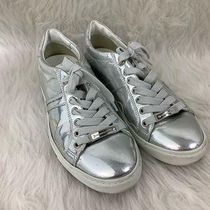 Alessandro Dell'Acqua Silver Lace Up Sneakers